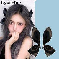 Lystrfac coreano 2 unids arco horquilla para las mujeres niñas tocado flequillo peluquero peluqueros lindo espalda cabeza superior clip accesorios para el cabello