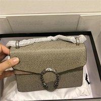 Mini dionísio 28cm bolsa de ombro lona couro tigre cabeça fechamento cadeia designer bolsa woc cadeias sacos mulheres designers clássico menina bolsas