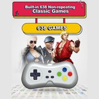 Portable Game Players 2 1080P Wireless TV Video Console With 638 Games Mini Dual Gamepad