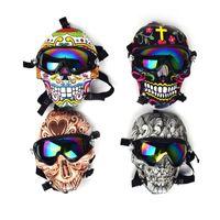 Nargile Maskesi Çevre Koruma Silikon Maske Giymek Gözlükler Serin Su Borusu Ile Akrilik Su Isıtıcısı Duman Tabancası Sigara Set Boru Bong
