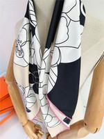 여성을위한 패션 디자이너 스퀘어 스카프 세련된 꽃 무늬 스카프와 shawls 고품질의 겨울 머플러 빈티지 스카프 여성 목을 따뜻하게 래핑
