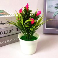 Decorative Flowers & Wreaths Artificial Potted Plant Long Lasting Desktop Colorful Party Home Wedding Fake Bonsai Decoration Office Vivid Ga