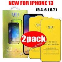 2 حزمة 2pack 9d الزجاج المقسى شاشة الهاتف حامي شاشة الهاتف لآيفون 13 12 11 برو ماكس XR XS 6 7 8 سامسونج S21 بلس a22 A32 A42 A52 A72 A92 4G 5G 2UNITS في صندوق واحد