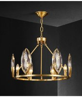 Modern Luster Crystal LED Lampadari Lampadari Lighting Living Sala da pranzo Decor Chandelier Rame Appeso Light Sospensione Luminaire