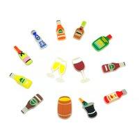 MOQ = 20 stücke + mexikanische stil weinflasche glühen leuchtende schuh charms großhandel jibitz für croc weiche gummi pvc charme zubehör kunststoff ornamente glühen im dunkeln