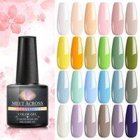 Nail Art Kits Spring Summer Light Color Gel Polish Set Soak Off Hybrid UV LED Polishes Lacquer Tips Design Manicure