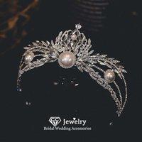 Hair Clips & Barrettes Baroque Tiaras Wedding Accessories For Women Bridal Hairwear Engagement Ornaments Pearl Headpiece Prom Dress Crown