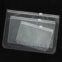 A5 / A6 / A7 Binder PVC Coperchio trasparente con cerniera sacchetto di stoccaggio 6 buche impermeabile sacchetti di cancelleria per ufficio Viaggio portatile Document Sack HWC7627