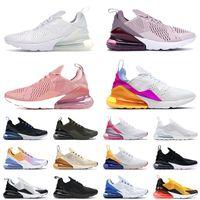 En Çok Satan Yastıklar 27C Koşu Ayakkabısı Erkek Bayan Üç Kişilik Beyaz Kaplan Fotoğraf Mavi 270s Tüm Siyah Yaz Degrade Tenis Eğitmenleri Sneakers 36-45