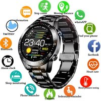 Luxury quality 44mm Smart Watches 2021 New Steel Band Digital Men Sport Watchs Electronic LED Male Wrist Watch For Clock Waterproof Bluetooth Hour woman Smartwatch