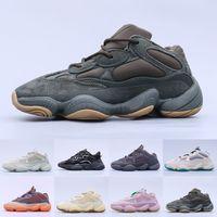 2021 Melhor Qualidade de Pedra Macio Visão Sapato do Deserto Rat 500 Homens Mulheres Sapatos Osso Branco Sal Super Lua Amarelo Blush Sneakers