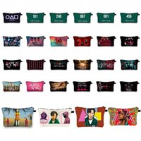 Squid Game 3D Print Storage Case Anime Cartoon Make up Cosmetic Bag Student Stationery Multi-function Bags Gift