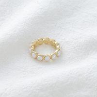 Любовное кольцо девушка темперамент сладкий жемчужный стиль прекрасный сердце круглые универсальные аксессуары
