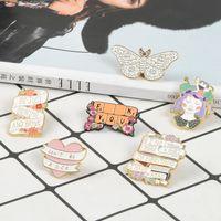 Factory5B4C 공예 키보드 소녀 배지 배너 나비 에나멜 브로치 가방 데님 셔츠 옷깃 핀 낭만적 인 꽃 쥬얼리