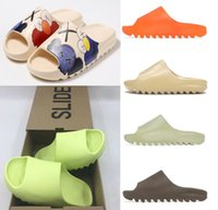 Kanye Clog Sandal West Yeezy Yeezy Yeezys YEZZZY YEZZYS HOMBRES DIBUJOS NEGROS Slides Slipper Hueso Resina Desierto Tainers Para Mujer Designer Sandalias Sandalias Slip-on Graffiti Zapatos de goma