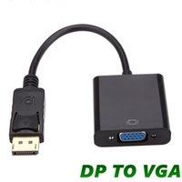 DisplayPort Display Port DP для адаптера VGA кабель для женщин-конвертер DP2VGA для компьютерного ноутбука HDTV монитор проектора с OPP
