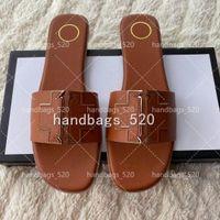 Donne di lusso Desinger Pantofole Sandali di moda Flip flops Brand Shoe Ladie Black Bianco PU Scarpe in pelle Senza scatola