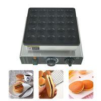 Ticari Mini Hollanda Krep Baker Maker Poffertjes Pan Izgara Yapışmaz 110 V 220 V Dorayaki Waffle Gözleme Makinesi 25 Delik