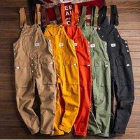 Pantaloni da uomo allentati Bib Cargo Bib Compagni Generali multi-tasca da uomo Casual Coveralls Bretelles Tute Pagliaccetto Abbigliamento