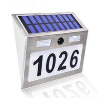 Solar Lamps Indoor Lights One Set Of Alphanumeric Three Sets Door Signs Numbering LED Lamp Body Outdoor Intelligent Sensor Light