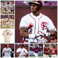 Пользовательские государственные семинары Флориды ФСУ Бейсбол для бейсболки Бустеры Posey Deion Sanders Dick Howser Draw Mendoza Parrish любой номер имени