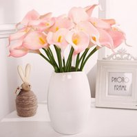 Colorato Artificiale Calla Gily Flower Real Touch Delicata PU Mini callas Lilys Bouquet per la decorazione della festa di nozze domestica DHD6392