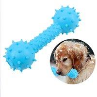 PET masticar juguete goma mancuerna forma resistente a la mordida perros dentición dentición