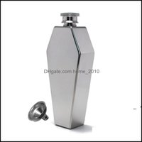 Drinkware Kitchen, Dining Home & Gardenportable 3.5Oz Mini Hip Flask Stainless Steel Creative Cute Liquor Flasks Wine Bottle With Funnel Wom