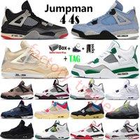 2021 Üst Krem Beyaz x Yelken Bred Union Jumpman 4 4s Erkek Basketbol Ayakkabıları Neon Siyah Kedi Soğuk Gri Metalik Mor Koşu Ayakkabıları Spor Ayakkabıları