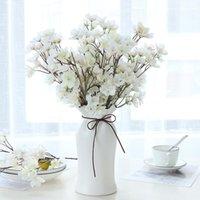Dekoratif Çiçekler Çelenk Yapay Şeftali Çiçeği Küçük Kiraz Düğün Ev DIY Dekorasyon Çifti Plastik Yüksek Kalite Sahte İpek R17