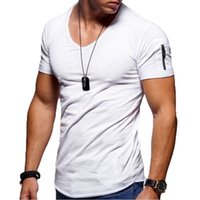 Large size casual men's outdoor loose short-sleeved European and American fashion V-neck t-shirt bottoming shirt cotton top