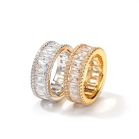 Yellow White Gold Plated Bling T CZ Diamond Rings for Men Women for Party Wedding Nice Gift