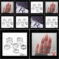 Band Jewelry6 Pcs Set Vintage Alloy Multilayer Joint Knuckle Rings Female Charms Jewelry For Women Fashion Party Gift T203 Drop Delivery 2021