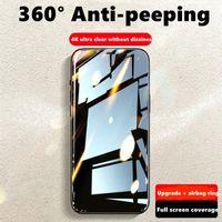 iPhone 11 Pro XS Max XR x 7 6 6S Plus SE 12 개인 정보 보호 방지 안티 스파이 풀 커버 강화 유리 필름