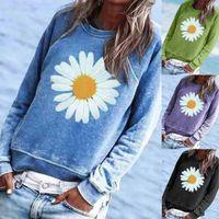 Women's Hoodies & Sweatshirts 7 Colors Women Sweatshirt Printing O-Neck Long Sleeve Tops Loose Pullover Female Casual Streetwear Moletom