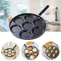 Pans 7 Holes Frying Pot Wear-Resistant Heat-Resistant Egg Pancake Steak Pan Cooking Ham Breakfast Maker Kitchen Accessories