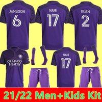 남자 키트 2021 2022 아이 올랜도시 축구 유니폼 SC 22 홈 Nani PATO Dwyer Akindele Mueller Moutinho Ruan 축구 셔츠