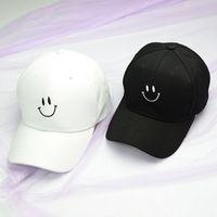 قبعة قبعة بيسبول الكورية المطرزة الابتسامة وجه البيسبول كاب التعبير الربيع والصيف bla الكبار قبعة الشمس