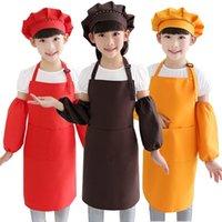 10 farben kinder schürzen taschen handwerk kochen backen kunst malerei kinder küche essen bib kinder schürzen kinder schürzen
