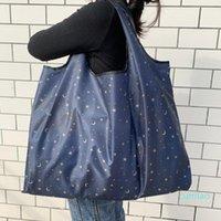 Bolsa de compras dobrável grande eco-friendly Bolsa de ombro portátil reutilizável para sacolas de bolsas de moda de mercearia de viagem