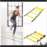 Fitness Supplies Sports Outdoors Drop Delivery 2021 5 Section 10 Meters Agility Football Rope Jumping Speed Pace Ladder Soccer Training Outdo