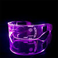 لوازم الحزب LED نظارات الإبداعية فلاش مضيئة نظارات الصمام الخفيفة النظارات المستقبلية التكنولوجيا النظارات بار فلاش glasseszc212