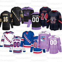 Özel Newyork Rangers Hokey Formaları 76 Brady Skjei 93 Mika Zibanejad 36 Mats Zuccarello 30 Henrik Lundqvist 20 Chris Kreider 11 Mark Messier