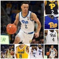 NCAA College Pitt Panthers Baloncesto Jersey 5 Au'diese Toney 11 Justin Champagnie 12 Abdoul Karim Coulibaly 23 Samson George Custom Steins