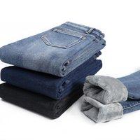 Women's Jeans Thicken Warm Slim High Stretch Denim Pencil Pant Winter Casual Vintage Plus Velvet Women Waist Skinny Ladies 17316