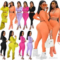 Women Hoodie Tracksuits Two Piece Set Jacket Sportswear Outfits Long Sleeve Trousers Sweatsuit Cardigan Tights Legging Suits S-XXL
