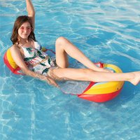 Inflatable Floating Water Hammock Portable Float Air Mattresses Lightweight Lounger Rafts Chair For Swimming Pool Relaxing Floats & Tubes