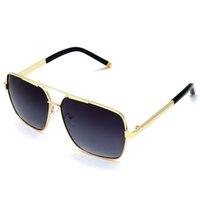 جودة عالية النظارات 10135 نظارات الشمس ماركة النظارات الشمسية أزياء الرجل المرأة مصمم مكبرة الاستقطاب النظارات الكلاسيكية النظارات المعدنية occhiali دا الوحيد مع مربع
