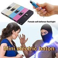 DHL Portable Electric Shocks Key Light USB Mini Фонарик Самозащитная Высокая Скрытие Электрический Шоктер Защищать себя