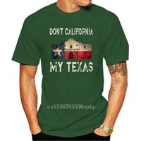 Camisetas para hombres No California My Texas Alamo Lone Star State Flag Black Camiseta S-3XL Streetwear Tee Shirts